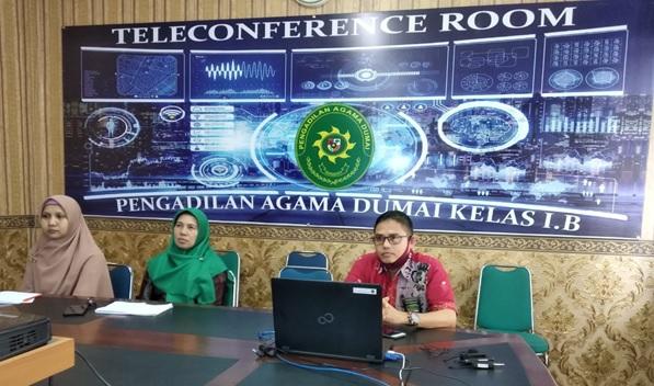 KPA dan Tim Keuangan PA Dumai Ikuti Acara Vidcon Dengan KPPN Dumai, Bahas Pelaksanaan Rekon Tahun 2020 | (14/7)